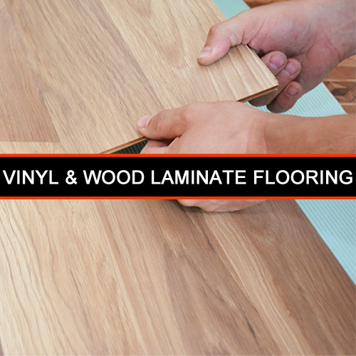 2-vinyl and wood laminate flooring